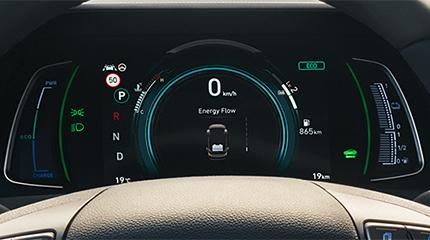Hyundai ioniq plugin prietaisų skydelis