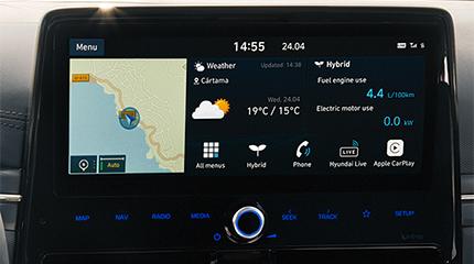 Hyundai IONIQ PLugin navigacijos ekranas