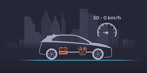 Hyundai BAYON išpėstinis paleidimas ir stabdymas