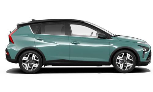 Naujasis Hyundai BAYON išorė šonas
