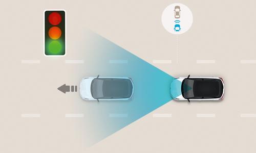 Hyundai BAYON priekinės transporto priemones pajudejimo sistema