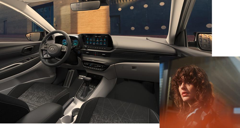 Naujasis Hyundai BAYON vidus