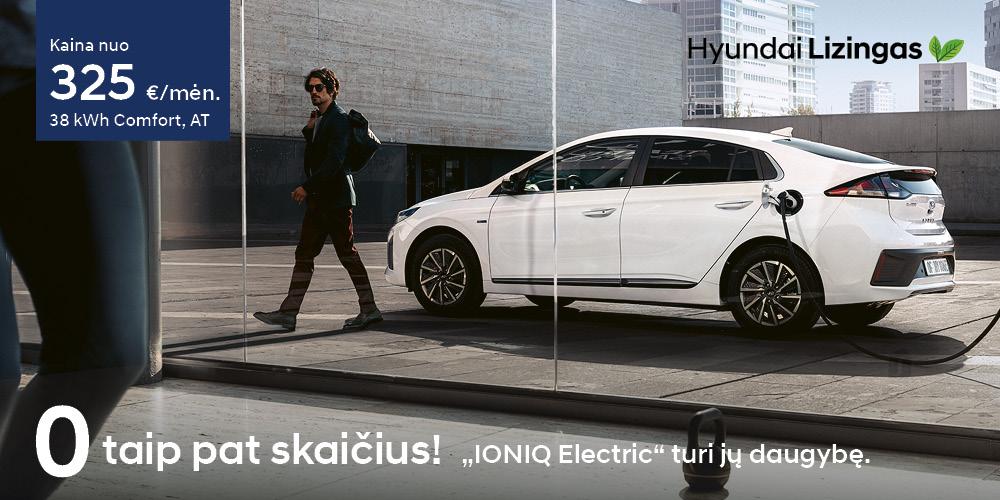 Hyundai lizingas IONIQ Electric nulinės palūkanos
