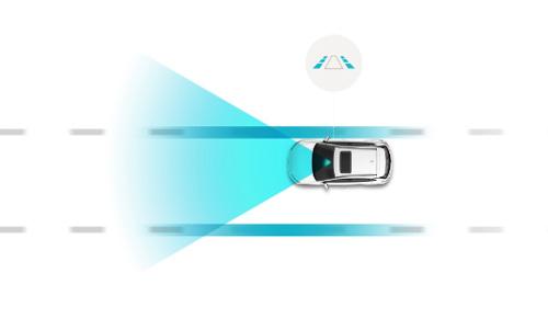 Hyundai KONA electric my21 eismo juostos palaikymas