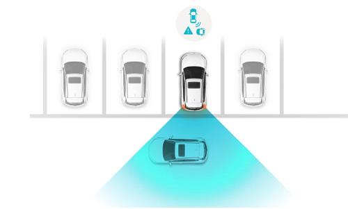 Hyundai KONA electric my21 galinio susidūrimo išvengimas