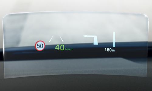 Hyundai KONA electric my21 greičio apribojimo įspėjimas