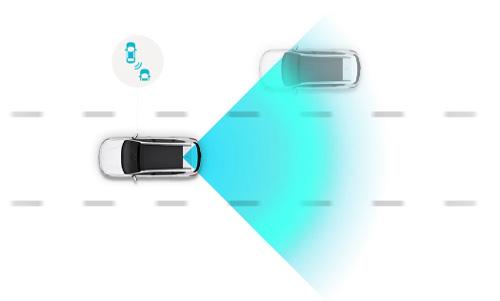 Hyundai KONA electric my21 susidūrimo aklojoje zonoje vengimas