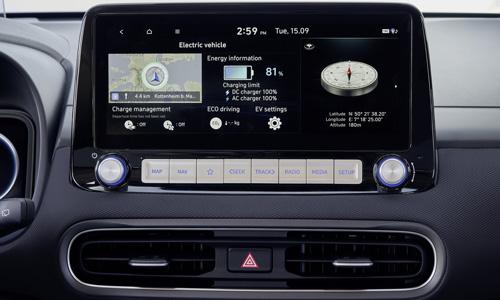 Hyundai KONA Electric MY21 ekrano navigacija