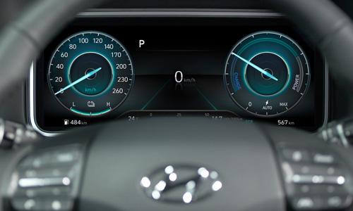 Hyundai KONA Electric 10,25col skaitmeninis skydas