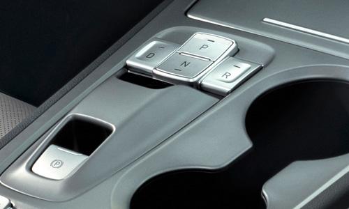 Hyundai KONA Electric elektriniai pavaros jungikliai