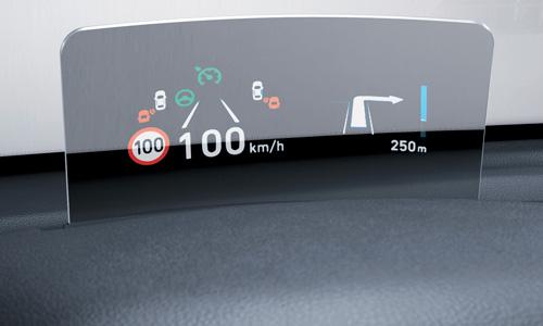 Hyundai KONA Electric projekcinis ekranas