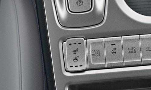 Hyundai KONA Electric vėdinamos šildomos sėdynės