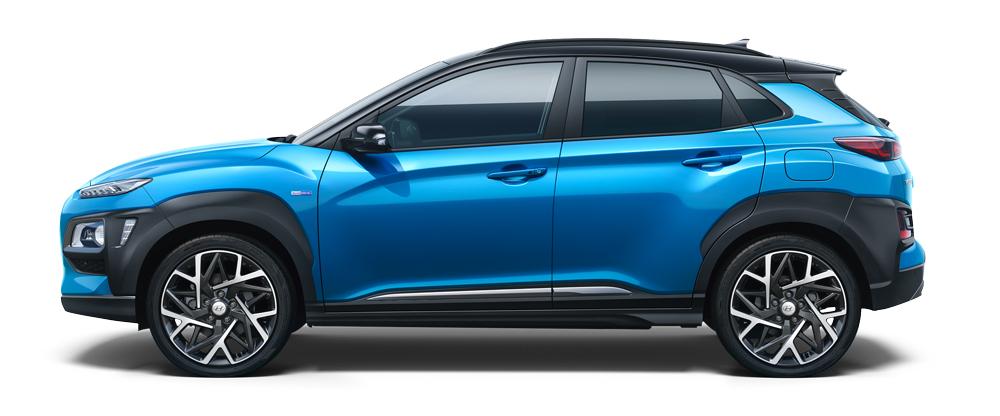 Hyundai KONA Hybrid šonas