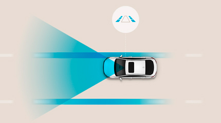Hyundai Kona Hybrid Važiavimo juostos stebėjimo sistema
