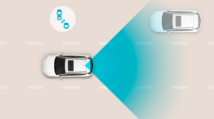 Hyundai Kona Hibridas Įspėjimo apie susidūrimą aklojoje zonoje sistema