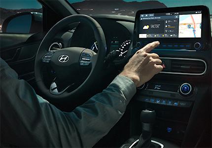 Hyundai KONA Hybrid jutiklinis ekranas