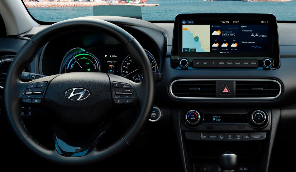 Hyundai KONA Hybrid interjeras Fakto Auto