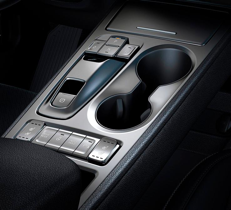 Hyundai KONA electric EV  elektromobilis centrinis pultas
