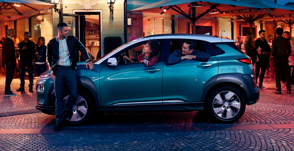 Hyundai KONA electric EV  elektromobilis sauga