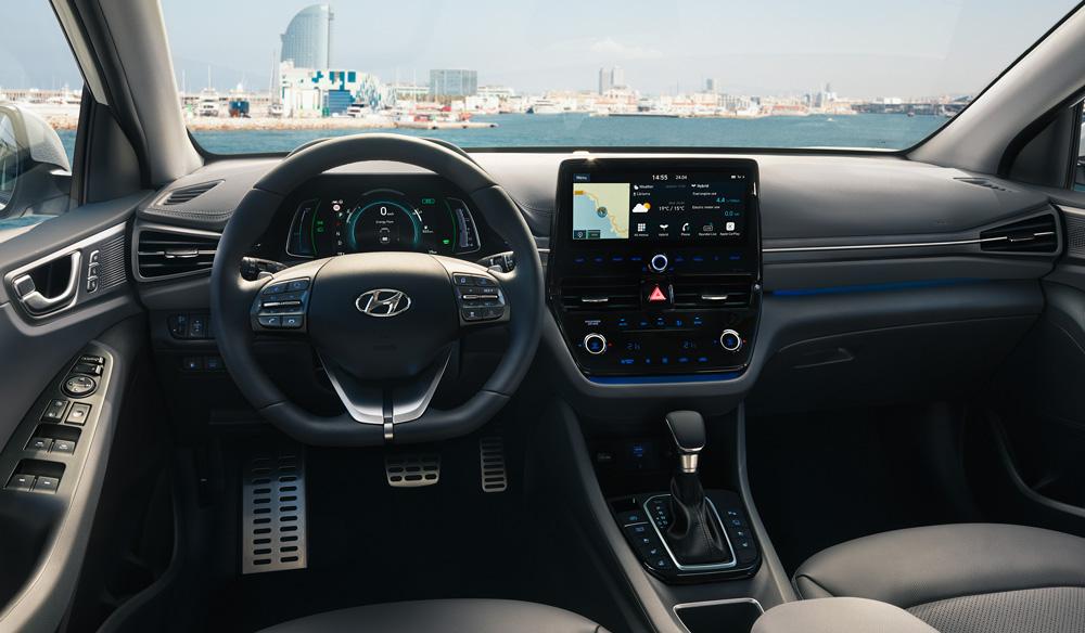 Hyundai Ioniq plug in konsolė