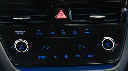 Hyundai ioniq Aukštųjų technologijų klimato kontrolė