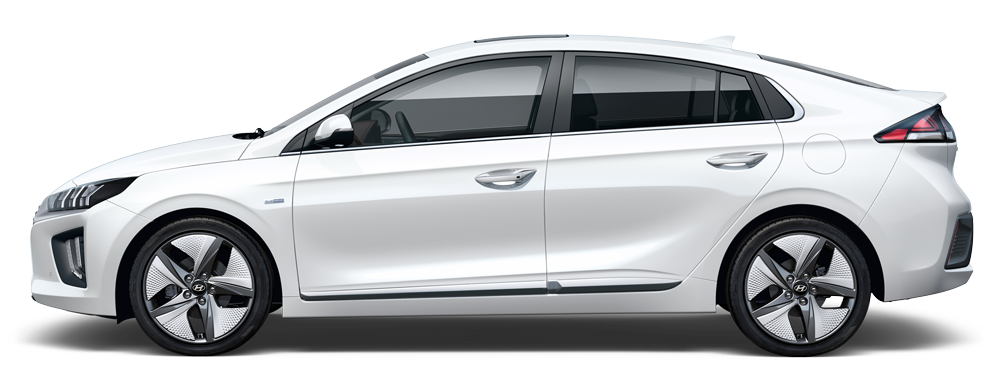 Hyundai Ioniq hybrid šonas