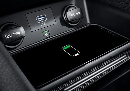 Bevielis išmaniųjų telefonų įkrovimas Hyundai Ioniq