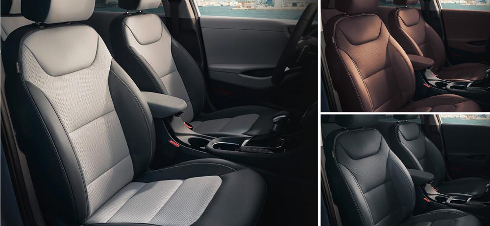 Hyundai Ioniq Hybrid sėdynės salonas