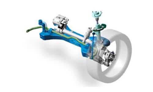 Naujasis Hyundai Tucson dinamika el. pakaba