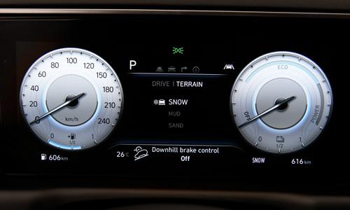 Naujasis Hyundai Tucson dinamika terrain mode