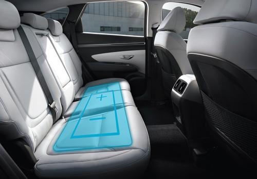 Naujasis Hyundai Tucson kompaktiškas akumuliatorius
