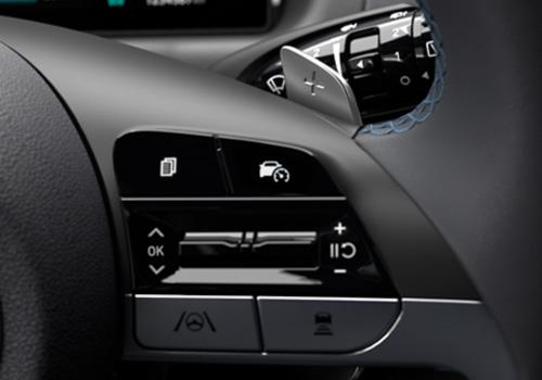 Naujasis Hyundai Tucson Pavarų perjungimo svirtelės