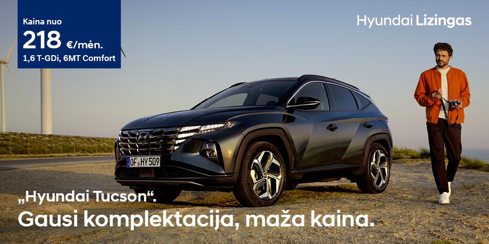 Hyundai lizingas Tucson Gausi komplektacija, maža kaina fakto autocentras