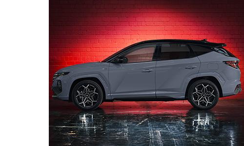 Naujasis Hyundai Tucson N LINE šonas