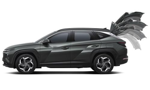 Naujasis Hyundai Tucson patogumas elektrinis dangtis