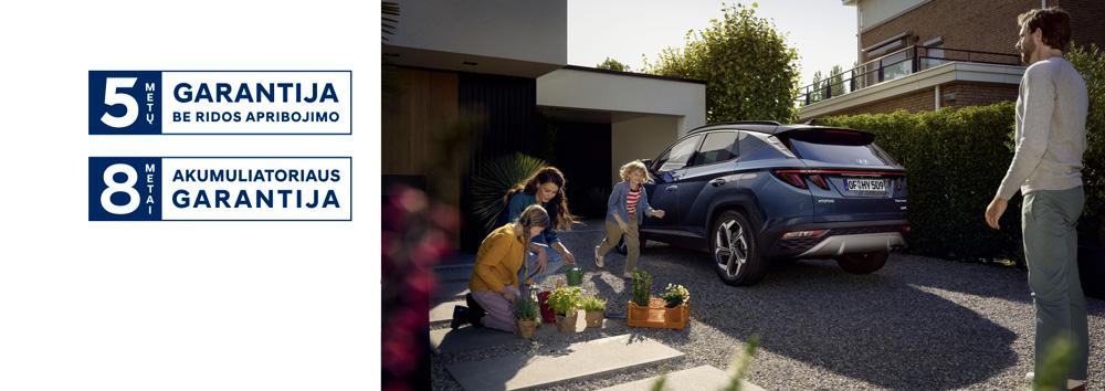 Naujasis Hyundai Tucson 5-ių metų garantija