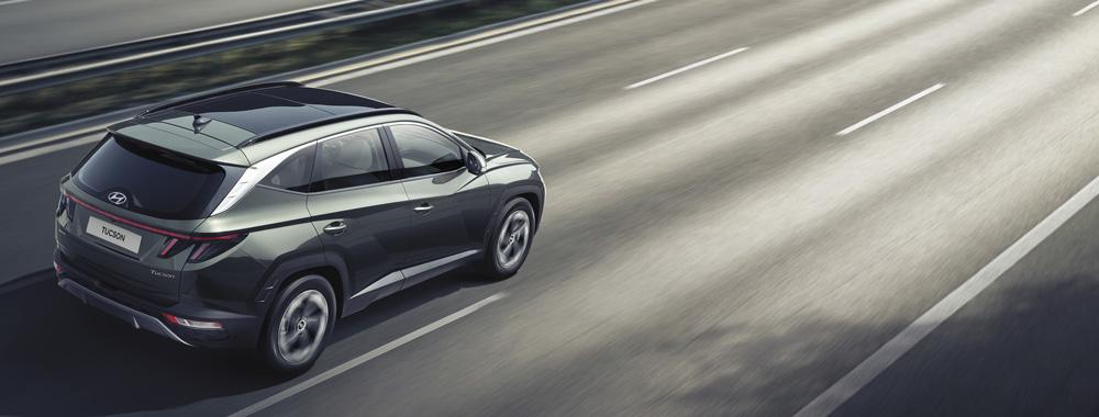 Naujasis Hyundai Tucson sauga Važiavimo greitkeliu pagalba