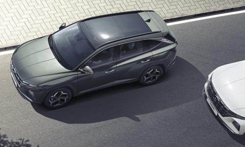 Naujasis Hyundai Tucson sauga įspėjimas apie išlipimą