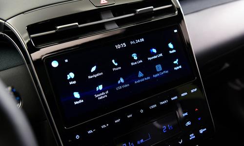 Naujasis Hyundai Tucson susiejimas jutiklinis ekranas