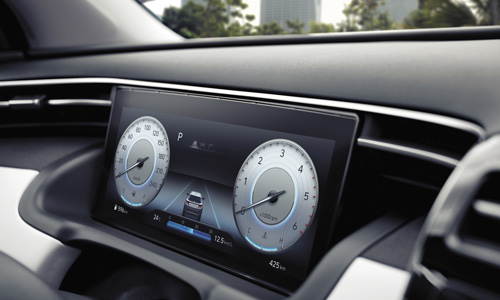 Naujasis Hyundai Tucson susiejimas skaitmeninis skydelis