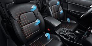 Hyundai Tucson šildomos sėdynės fakto auto
