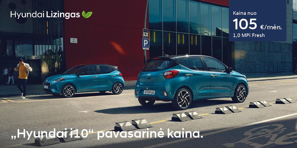 Hyundai lizingas i10 pavasarinė kaina