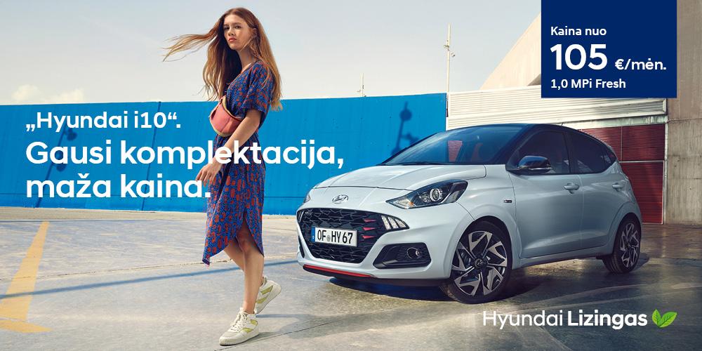 Hyundai lizingas i10 geriausia komplektacija