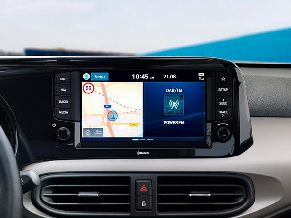 Naujasis Hyundai i10 geriausios klasėje ryšio galimybės