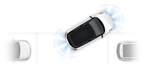 Hyundai i20 priekinė ir galinė pagalbinė parkavimo sistema