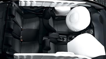 Hyundai i20 6 oro pagalvių sistema