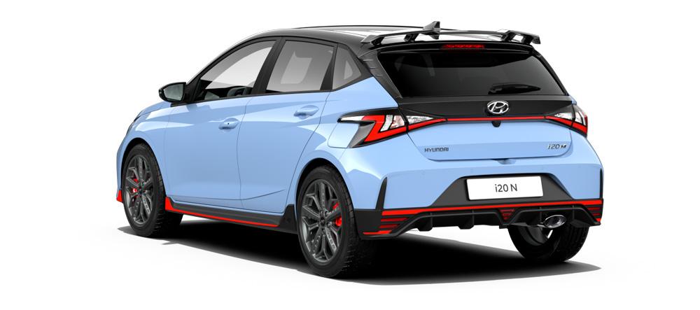 Naujasis Hyundai i20 N wrc stogo aptakas