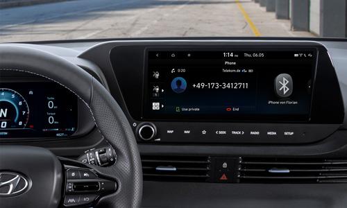 Naujasis Hyundai i20N MY21 telefono ekrano atvaizdavimas