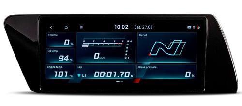 Hyundai i20N MY21 skaitmeninis prietaisų skydas