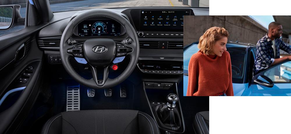 Naujasis Hyundai i20N MY21 Vidus